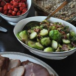 Brussels Sprouts with White Wine and Pancetta