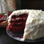 Red Velvet Cake with Coconut Cream Cheese Frosting