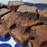 Sugar Crusted Cocktail Party Brownies