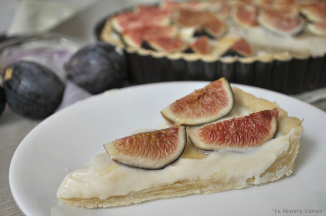 Fig Tart with Mascarpone Cream {The Mommy Games} 2