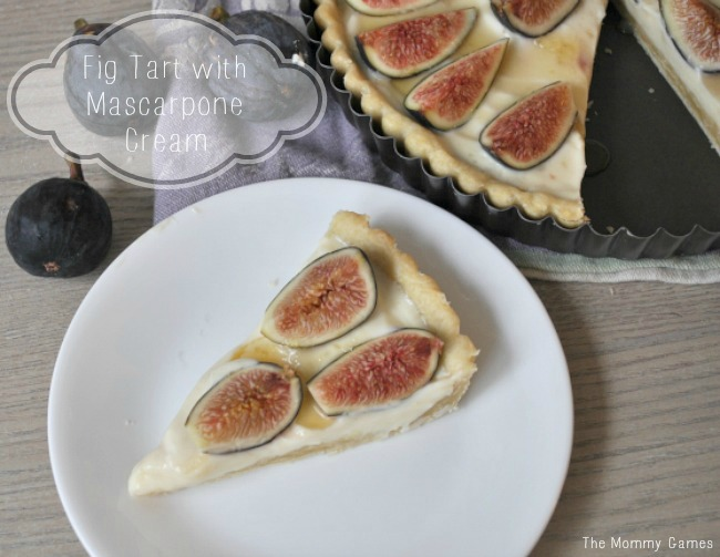 Fig Tart with Mascarpone Cream {The Mommy Games}