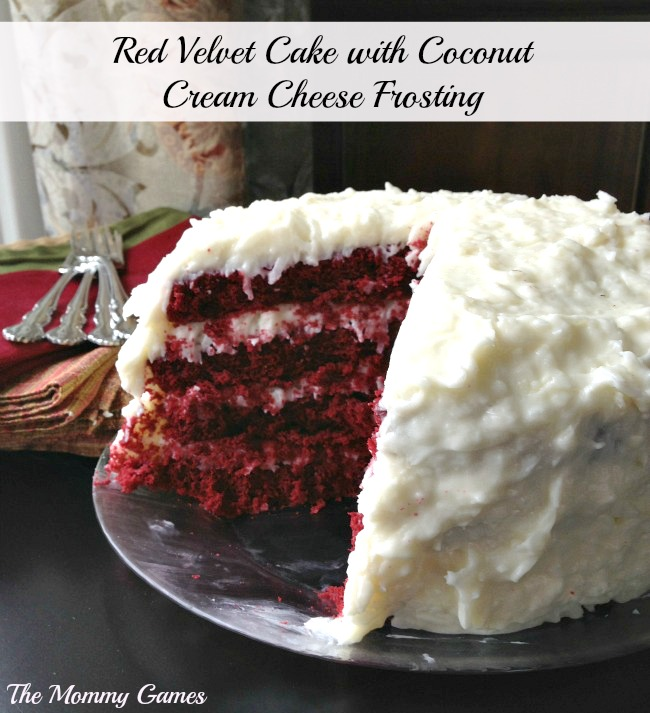 Red Velvet Cake With Coconut-Cream Cheese Frosting Recipe — Dishmaps