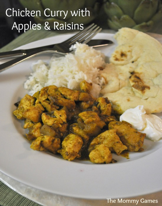 Chicken Curry with Apples and Raisins by The Mommy Games