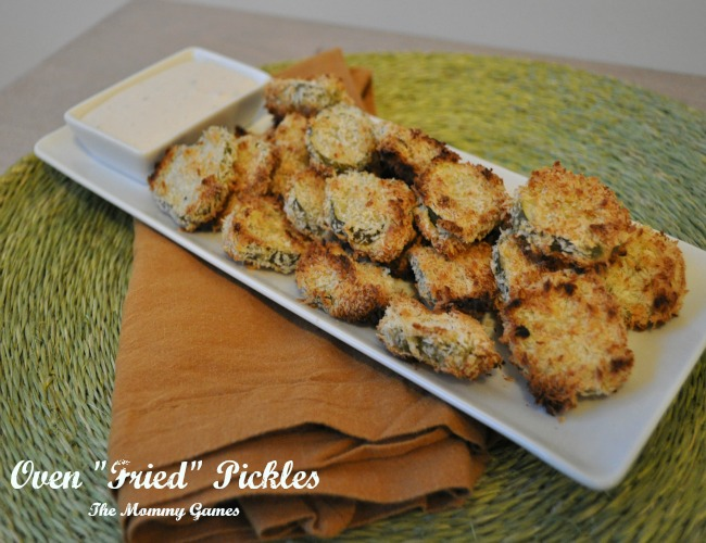 Oven Fried Pickles via The Mommy Games