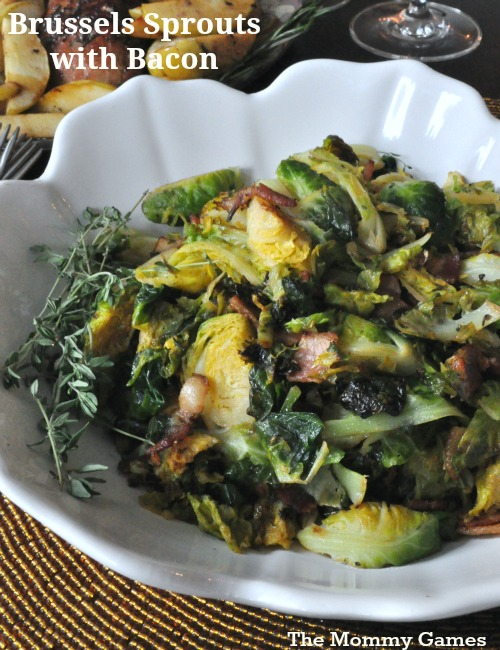 Brussels Sprouts with Bacon by The Mommy Games