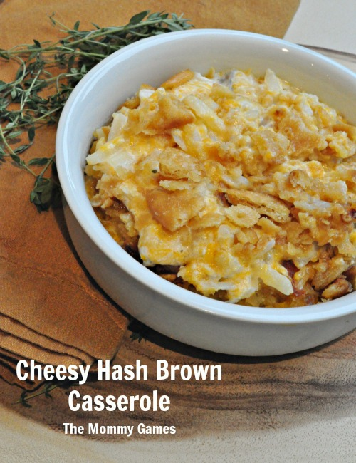 Cheesy Hash Brown Casserole by The Mommy Games