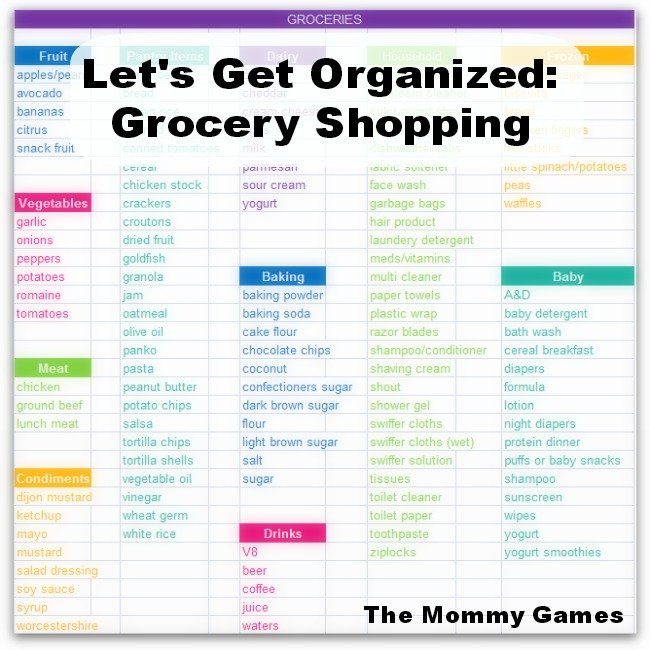 Let's Get Organized: Grocery Shopping