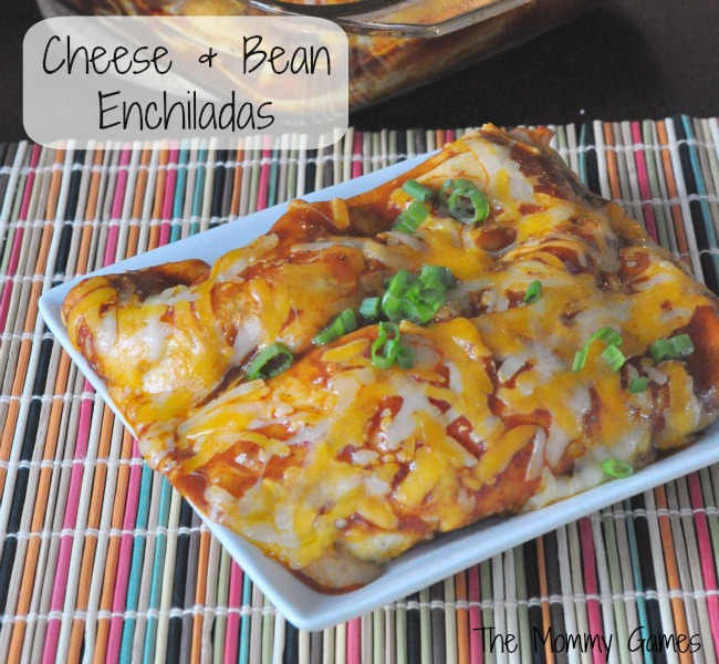 Cheese & Bean Enchiladas by The Mommy Games