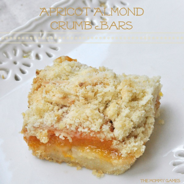 Apricot Almond Crumb Bars by The Mommy Games