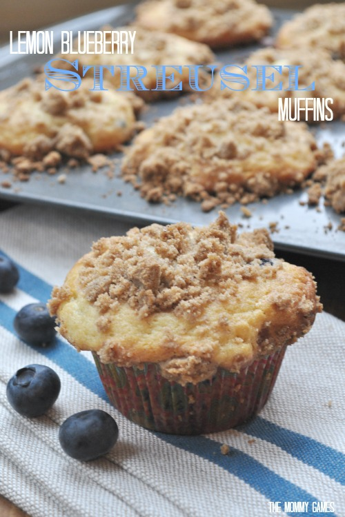Lemon Blueberry Streusel Muffins {The Mommy Games}