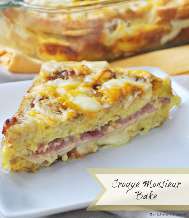 Croque Monsieur Bake. Delicious and Simple Make Ahead Breakfast {The Mommy Games}